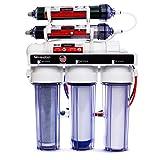 LiquaGen Portable - 6 Stage Dual Use (Drinking & 0 PPM Aquarium Reef/Deionization) Reverse Osmosis Water System (RO/DI) w/pH Alkaline Mineral Restoration Filter (50 GPD)