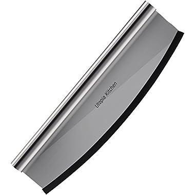 Premium 14  Pizza Cutter with 430 Grade Stainless Steel, Sharp Rocker Blade.