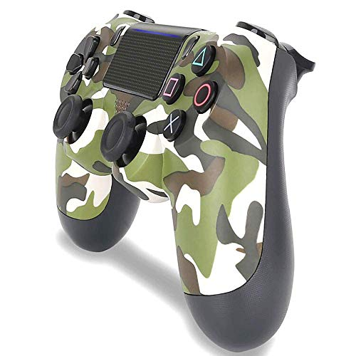 PS4-Controller PS4 / PC-Gamecontroller Vibrationsstreifenlicht Bluetooth Wireless Controller (Camouflage Green)