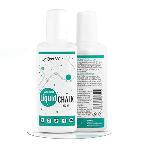 Topside Liquid Chalk 200 ml – Mejor agarre para escalada, buldern o barra de pesas
