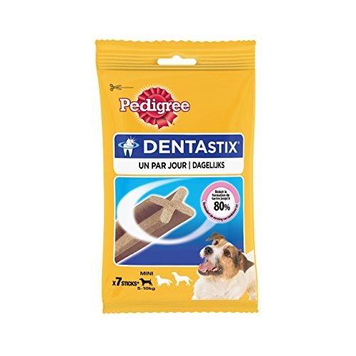 PEDIGREE Pack De 7 Dentastix De Uso Diario para La Limpieza Dental De Perros Pequeños 110 g
