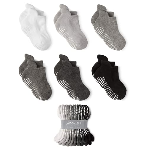 LA Active Stoppersocken Kinder Baby Socken 0-6 Monate bis 10 Jahre ABS Socken Kinder Stoppersocken Baby Krabbelsocken Baby Anti Rutsch Socken Kind