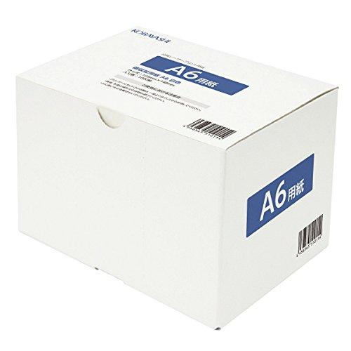 コピー用紙 A6 白色度80% 紙厚0.092mm 1000枚 上質紙