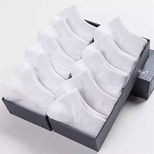 10 pares de las mujeres calcetines transpirables deportes calcetines de color sólido calcetines de barco cómodo algodón calcetines (Color : 2, Size : 5 pairs)