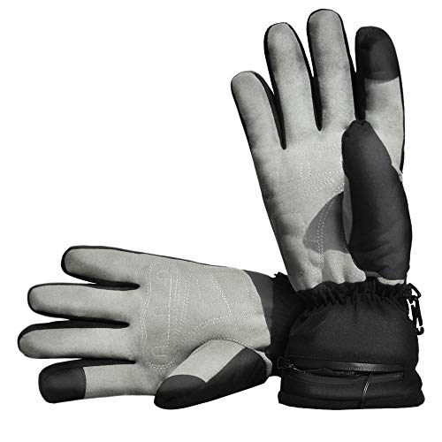 Heated Gloves for Men Women, Winter Raynauds Disease Waterproof & Windproof Work Gloves, Motorcycle Hunting Fishing Riding