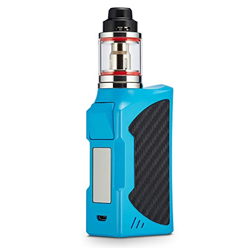 90W E Zigarette Starter Set, 2200mAh Vape Pen Kit, Top Refill 0,3ohm 2,8ml Ezigarette Verdampfer Kopf Tank, Regelbare Watt LED Bildschirm 0,0mg Nikotin (Blau)