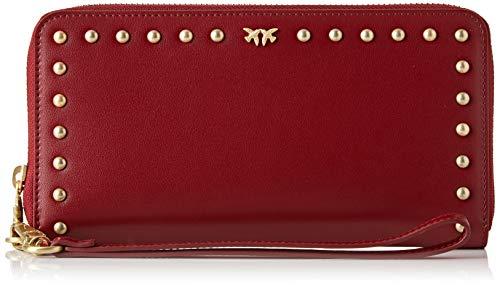 Pinko Erie Wallet Zip Around XL, Portafoglio Donna, Rosso (Dark Red), 3x11x21 cm (W x H x L)