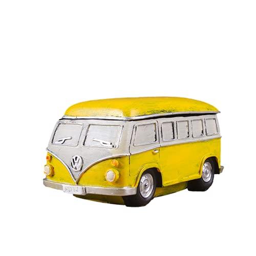 Cenicero, cenicero de banda resistente al viento, forma creativa de autobús, material de resina respetuoso con el medio ambiente, puede servir como regalo de novio