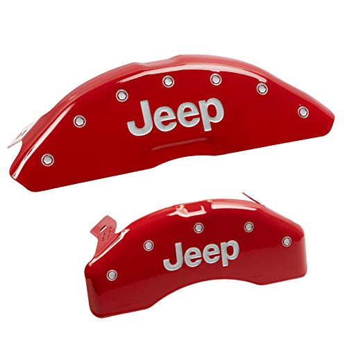 Set of 4 MGP Caliper Covers 35015SESCRD ESCALADE Engraved Caliper Cover with Red Powder Coat Finish and Silver Characters,