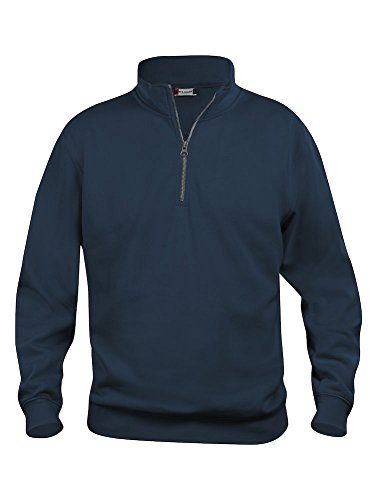Mens 1/4 Zip Sweatshirt- Quarter Zip Sweater- Plain Colour- No Logo- 7...