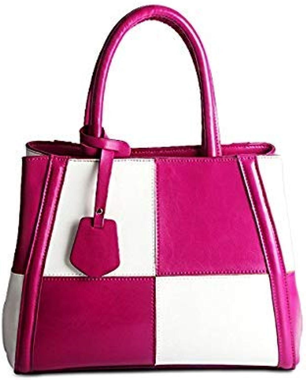 Bloomerang Women Genuine Leather Hobo Tote Designer Handbag Branded Bag Mix color Check Plaid Style Black White color 1
