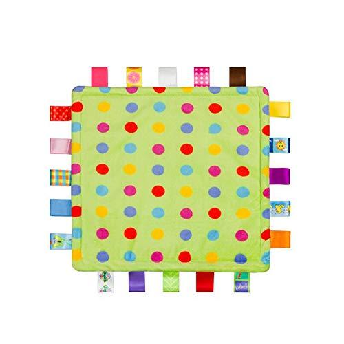 Bébé Tag Couverture de sécurité - Soft Touch en peluche colorée de sécurité Couverture de sécurité confortable, une couverture de sécurité Jouet pour bébé, enfant en bas âge, enfant