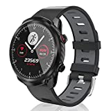 Fitness Tracker CatShin CS11 Activity Tracker with Sleep Monitor Smart Watch Compatible for iPhone, Android with Sleep Monitor, Sports Mode, Pedometer, Waterproof 1.3 inch Full Touch Screen (Grey)