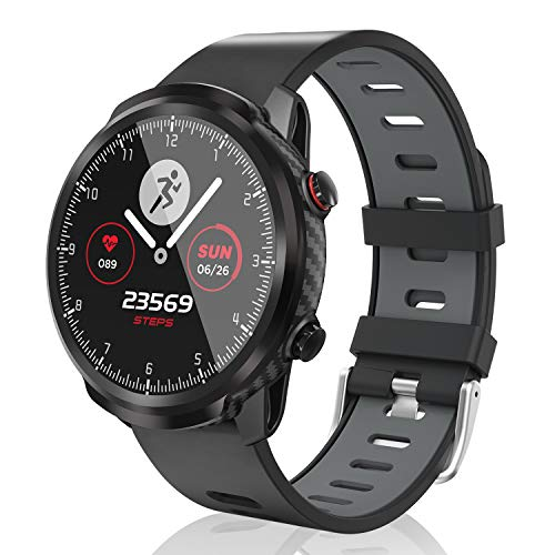 """CatShin Smart Watch,Smartwatch with 1.3"""" Touch Screen, Fitness Tracker Step Counter, Activity Tracker with Blood Oxygen Monitor for Android/iOS, IP67 Waterproof Sport Watch for Women and Men"""