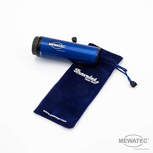 MEWATEC Travelet, Reisebidet, Reisedusche, Dusch-WC blau, Li-Ionen Akku