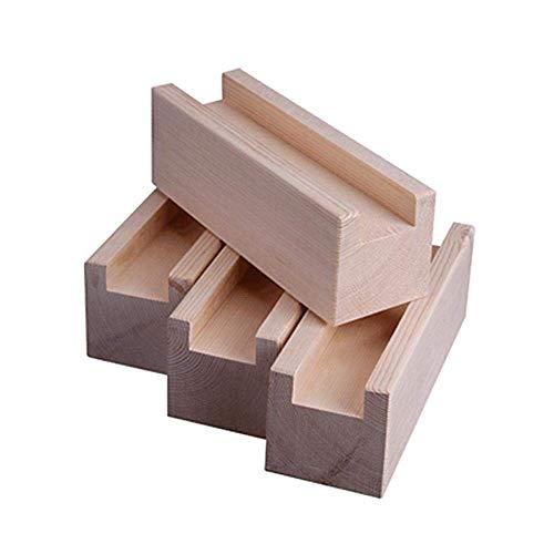 AFDK Kiefer, Möbelheber, Möbel-Riser, Bettruhe, Sofa-Riser, 4 Stück, Länge 10 cm Nutbreite 2,5 cm Höhe erhöhen 5 cm