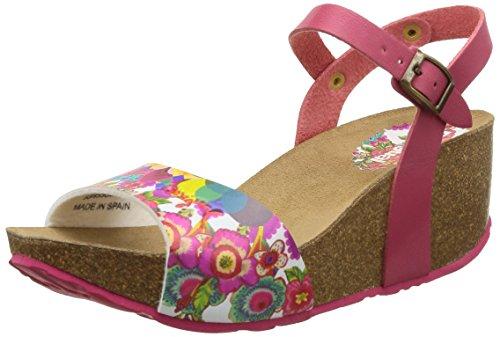 Desigual Shoes Caramelo - Sandalias de Vestir de Material sintético para Mujer Multicolor, Color Rojo, Talla 37