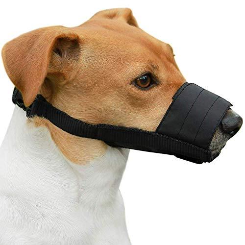Wanxuan verstellbare Hundemaske, weich und atmungsaktiv, Nylon, Anti-Biss, Bellen, geeignet für kleine und mittlere, 2 Stück