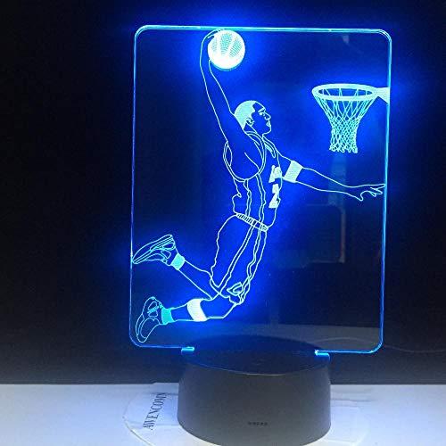 Lebron James LED-nachtlampje met 16 kleuren touch-sensor licht slaapkamer jongens sport james slam donker