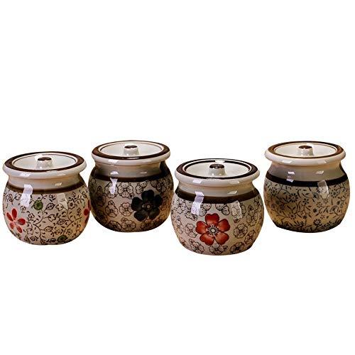 Box druppelflesje glazen bakken kruiden specerijen, smaakmakers vaas loods, tankcontainers Japanse olie met suiker en kruiden lepel bevestiging 4.delige,de