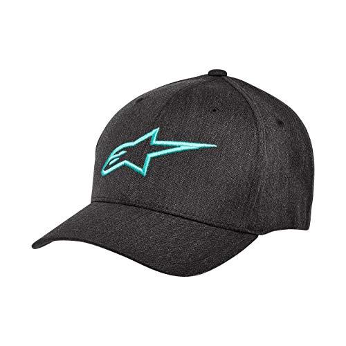 Alpinestars Herren Curve Kappe Hat, Dunkelgrau/Türkis, L/XL