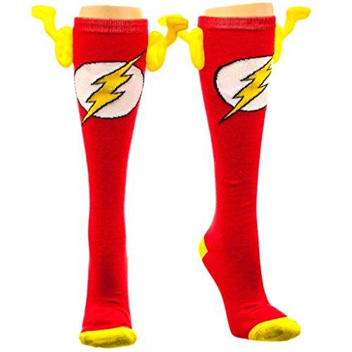 DC kh2s83dco Comics Flash Knie Hohe 3D Effekt Socken