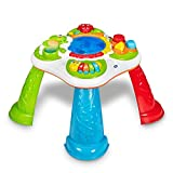 Chicco Mesa Descubrimiento Sensorial Infantil, Mesa de Actividades Interactiva con 5 Zonas Sensoriales, Juego Educativo Electrónico con Luces y Sonido – Juguete para Bebés de 10 Meses a 4 Años