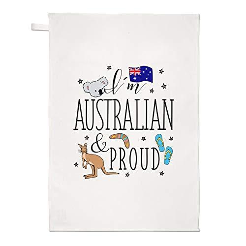 Gift Base I'M Australien et Fier Torchon Chiffon de Vaisselle