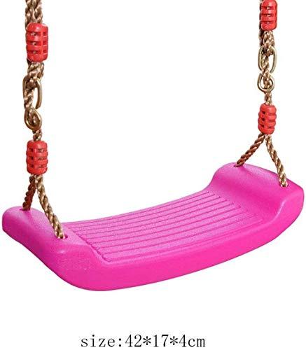 Asiento de Columpio Mecedora Rosa Columpio para niños Columpio de jardín para niños Columpio Infantil de Calidad Columpio de Placa Curvada Columpio de plástico para Uso en Interiores y Exteriores