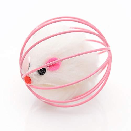 Ba30DEllylelly Katziges lustiges Spielzeug Gefälschte Maus im Käfig Ball Katzen Spielzeug Interaktives Zubehör für Katzen Universal Pet Supplies