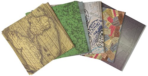 Aitoh de Papel para Origami 15,2x 15,2cm 150Sheets-Travel Tema