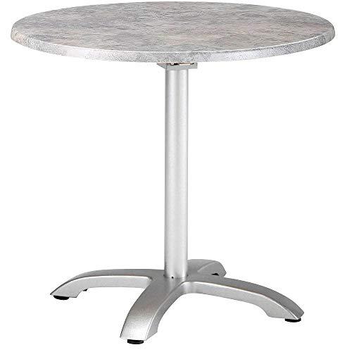 Best Klapptisch Maestro 90 cm rund Silber/Beton Esstisch, Gartentisch, Tisch