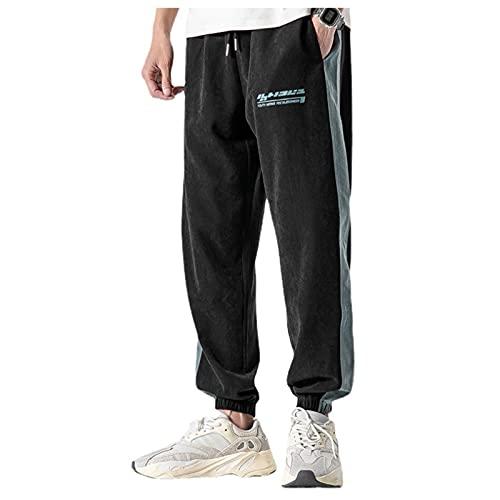 Yousheng Pantalones deportivos para hombres, pantalones de jogging de algodón con bolsillos, pantalones deportivos ligeros y cómodos, estiramientos transpirables para correr casuales pantalones