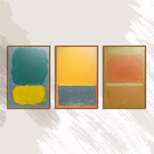Mark Rothko Abstrakte amerikanische Art drucken rahmenlose Ölgemälde Spray Leinwand Wasserdichte Airbrush quadratische Plakatkunst 50x75cm