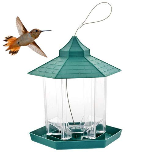 N/K Wilden Vogel Feeder Outdoor Vogel Feeder Lebensmittel Container Hängen Pavillon Vogel Feeder Für Garten Dekoration 20 * 18 * 23cm/grün