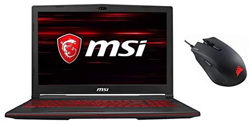 MSI Gaming GL63 9RCX-219INIntel Corei5-9300H 9th Gen 15.6-inch Gaming Laptop (8GB/512GB NVMe SSD/Windows 10 Home/GTX 1050 Ti, 4GB Graphics/Black/2.22Kg) 9S7-16P812-219