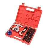 KATSU Metric & Imperial Flaring Tool Kit 4Pcs Set for Cu-Al Pipe + Tube Cutter + Reamer