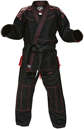 KO Sports Gear Youth Kids Black BJJ Gi Pearl Weave for Brazilian Jiu Jitsu Grappling and Mixed product image