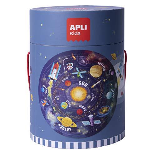 APLI Kids- Sistema Solar Puzle Circular, 48 Piezas, Multicolor (18200) (Juguete)