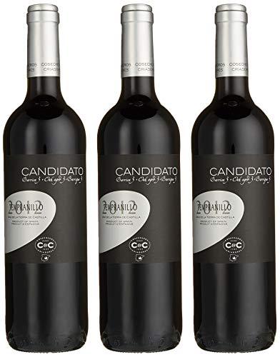 Cosecheros y Criadores - Familia Martínez Bujanda Candidato - Tempranillo - Plata Tinto - Barrique Vino de la Tierra de Castilla (3 x 0.75 l)