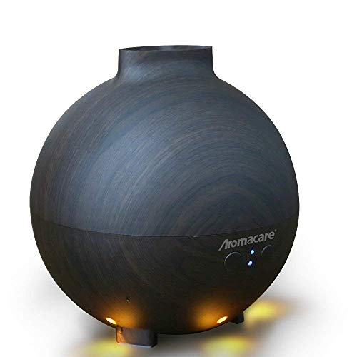 Aromacare 600ml Essential Oil Diffuser for Large Room, Aroma Diffuser for Essential Oils/Cool Mist Humidifier for Aromatherapy, Defuser for Large Room,Dark Wood Grain,Last 12 Hours