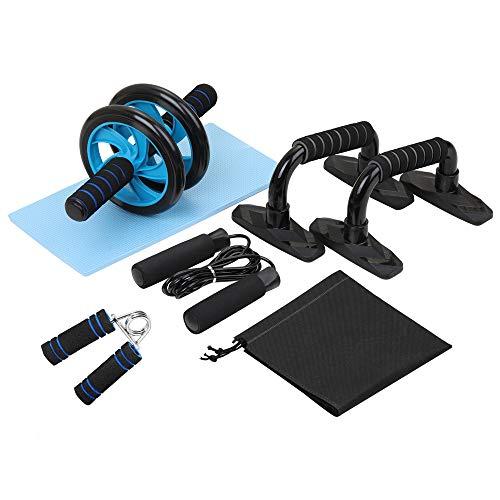 TOMSHOO 5-IN-1 Bauchtrainer Set, Abdominal-Übungsrollenset mit Ab-Roller-Rad für das Abdominal-Core-Fitness-Training im Fitnessstudio und zu Hause (Style 1)