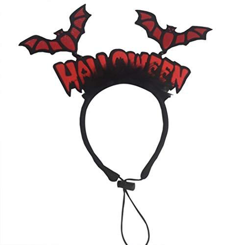 Legendog Halloween Haustier Stirnband Brief Fledermaus Design Kostüm Prop Haustier Kopfbedeckung für Hundekatze