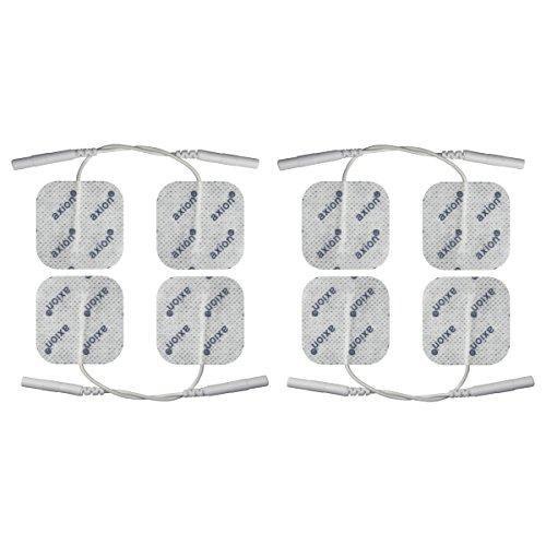 8 Electrodos de 4x4 cm - para su aparato TENS EMS electroestimulador - axion