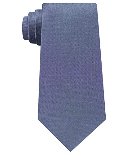 Kenneth Cole Reaction Mens Silk Pattern Neck Tie Gray O/S