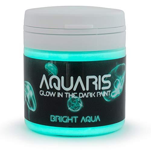 Pintura que Brilla en la Oscuridad, Aquaris (50ml), Color Aqua brillante (azul claro/turquesa) de SpaceBeams