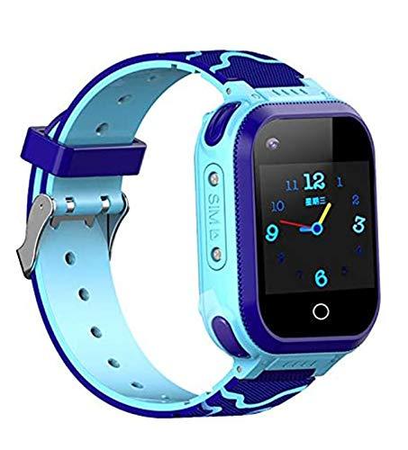LNLJ Kids GPS Smart Watch, GPS Tracker Childrens Smartwatch Support SOS Llamada Alarma 2-Way Conversación Mejor Regalo para Niñas Niños Niños,Azul