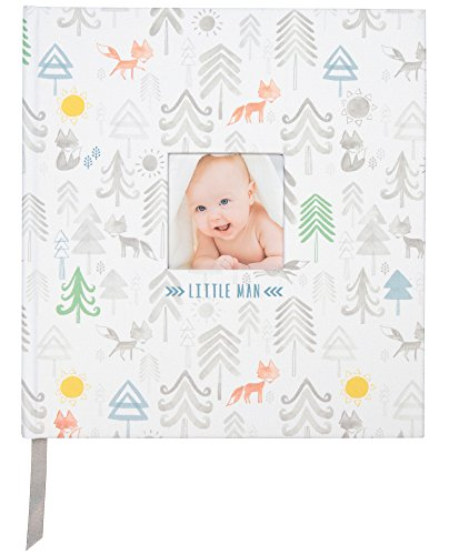 "C.R. Gibson Little Man Perfect-Bound Memory Book for Newborn and Baby Boys, 9.5"" x 10"""