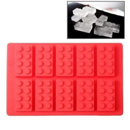 Eiswürfelform / Eiswürfelschale aus Silikon / Lustige Eiswürfel - Block Blöcke Bauklötzer 10er Form
