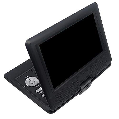 CAIZHIXIANG Reproductor de DVD portátil de 10,1 Pulgadas giratoria DVD DIVX USB portátil de TV Portatil DVD TV del Cargador del Coche RCA
